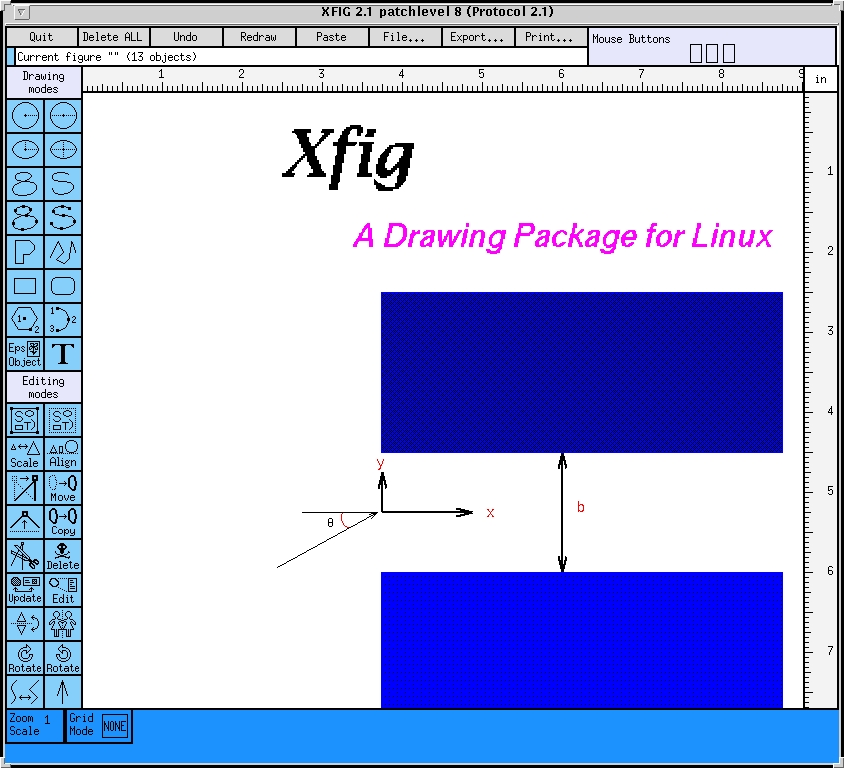 Xfig Line Drawing : Xfig linux journal