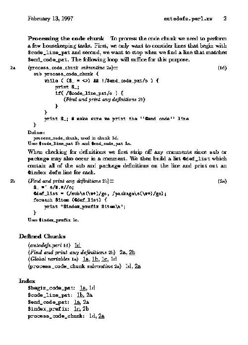 Literate Programming Using Noweb   Linux Journal