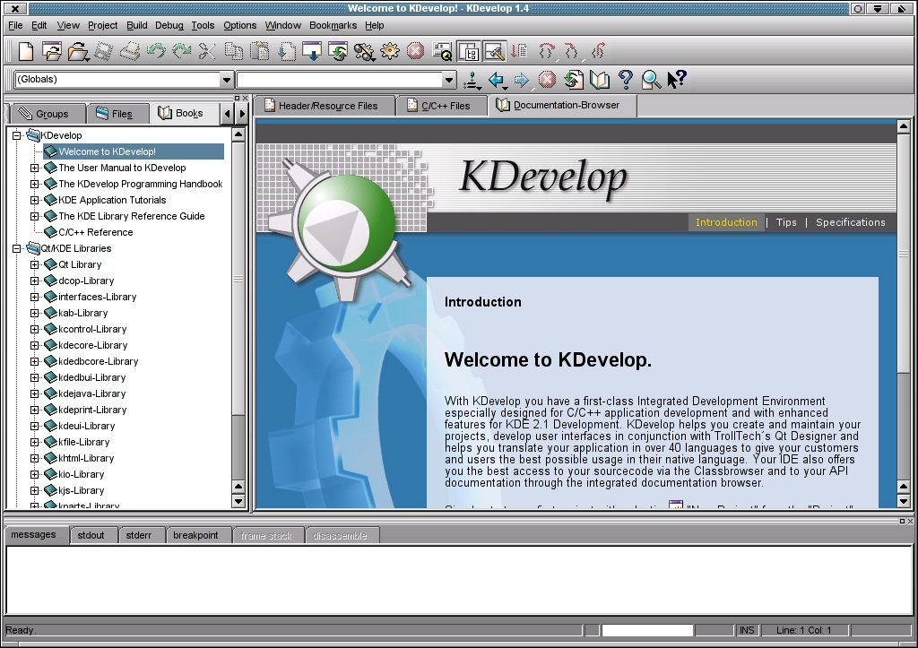 Developing C/C++ Applications with the KDevelop IDE | Linux