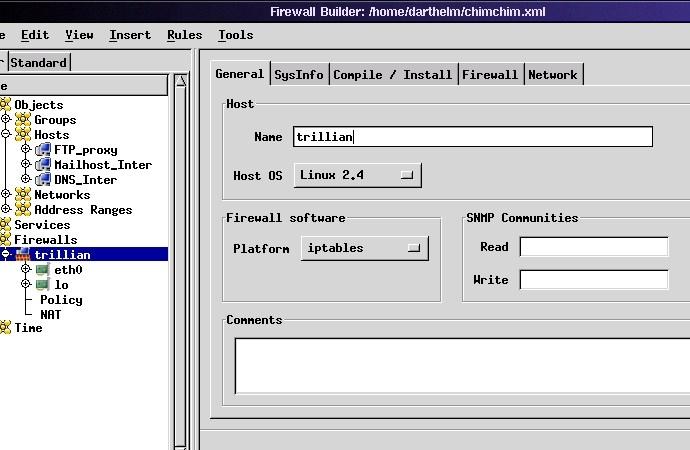 Using Firewall Builder, Part I | Linux Journal