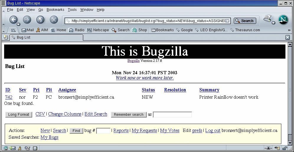 Open-Source Bug Tracking with Bugzilla | Linux Journal