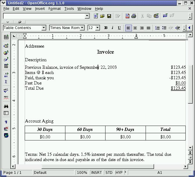 how to give page number in openoffice writer