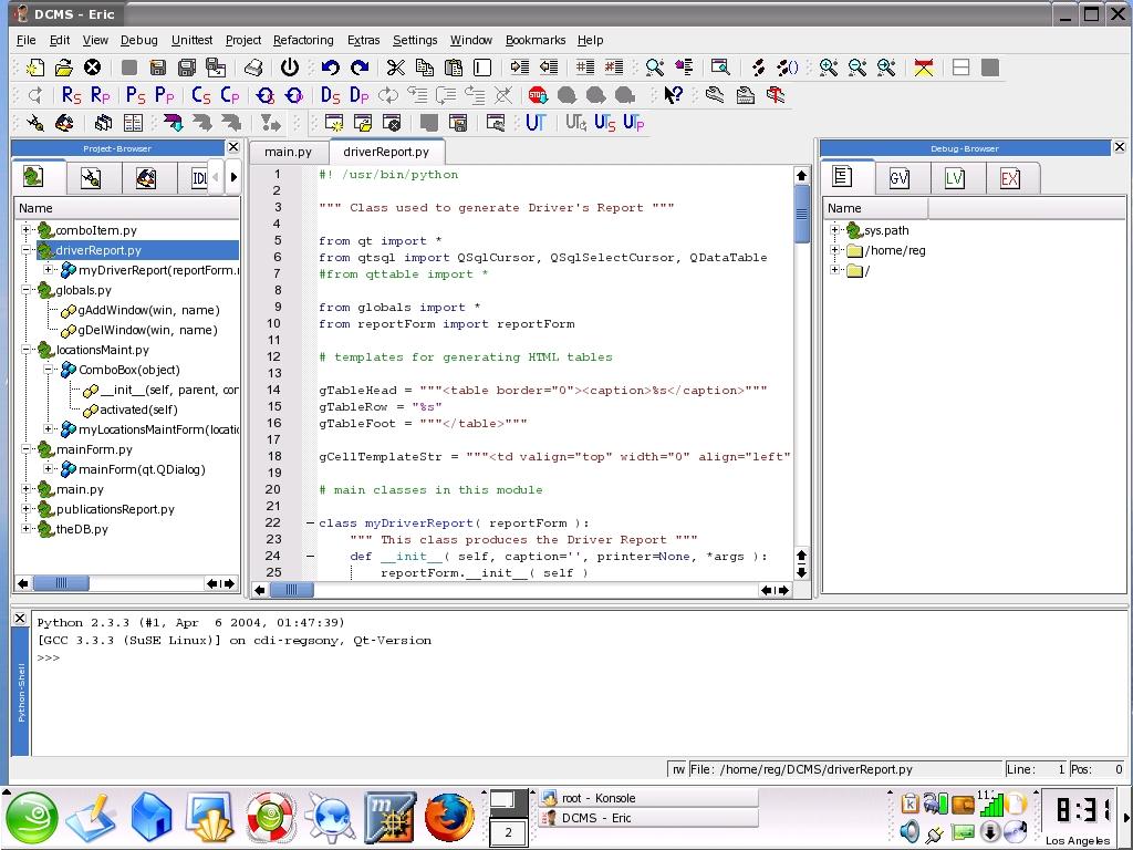 Programming Tools: Eric3 | Lin...