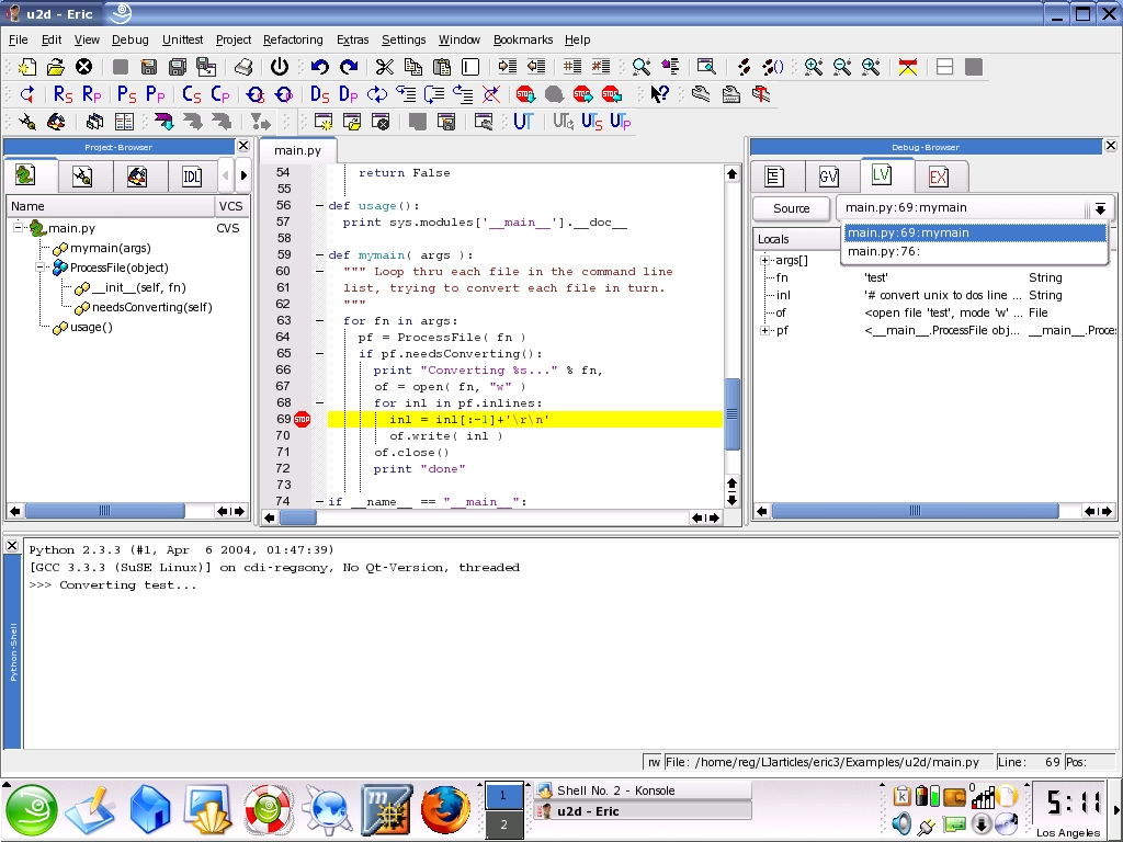 Programming Tools: Eric3 | Linux Journal