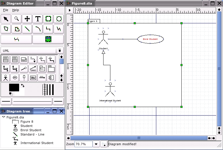 Programming tools uml tools linux journal figure 1 the dia gui ccuart Gallery