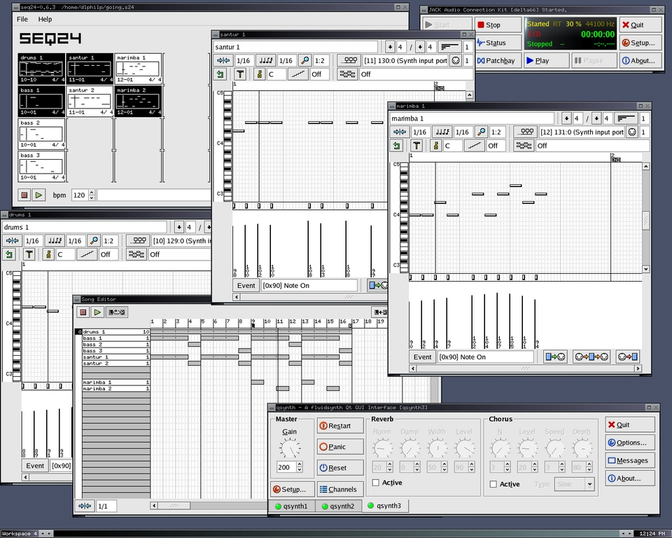 At the Sounding Edge: Using QSynth and QJackCtl   Linux Journal