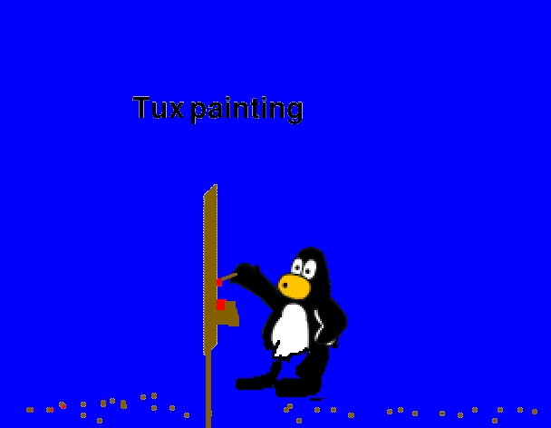Penguin tux painting Paint for linux
