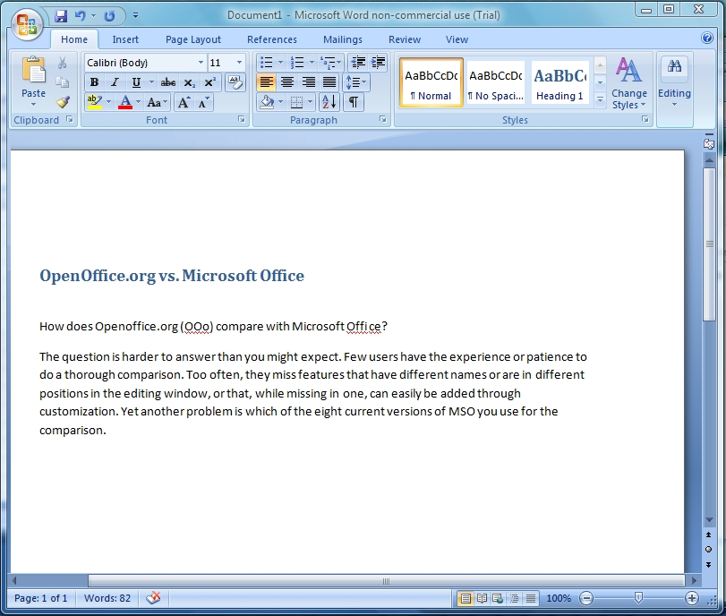 openoffice org vs microsoft office linux journal