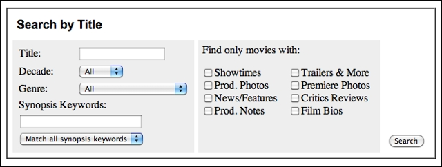 Yahoo Movies Advanced Title Search