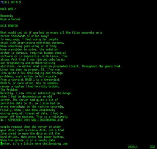 Read Linux Journal from the Command Line   Linux Journal