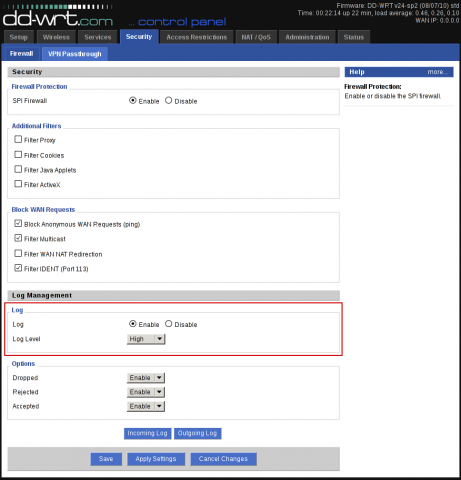 dd-wrt how to show logs