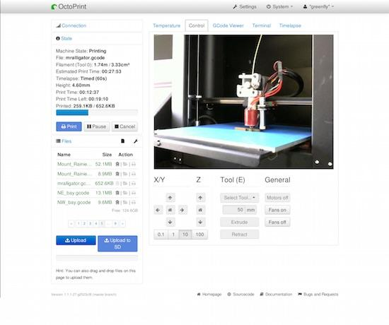 What's New in 3D Printing, Part IV: OctoPrint | Linux Journal