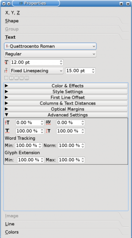 how to change line spacing in scribus
