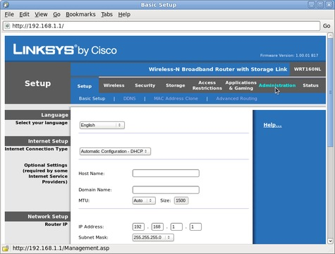 LinkSys Firmware Upgrade Utility