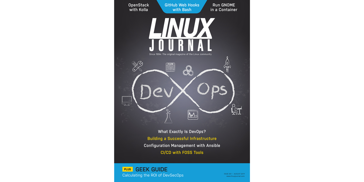 Linux Journal August 2019 cover
