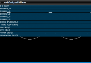 The mixer selection GUI in Minim.