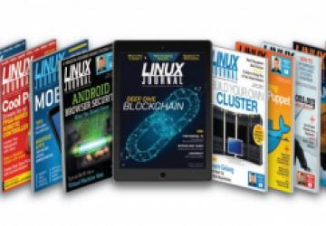 Linux Journal magazine covers