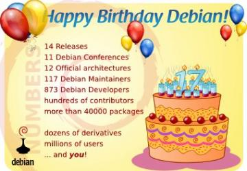 Debian turns 17