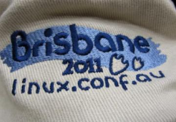 Brisbane LCA 2011 conference logo on the conference hat