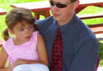 Shawn Powers and daughter