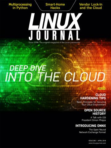 April 2018 Linux Journal Cover