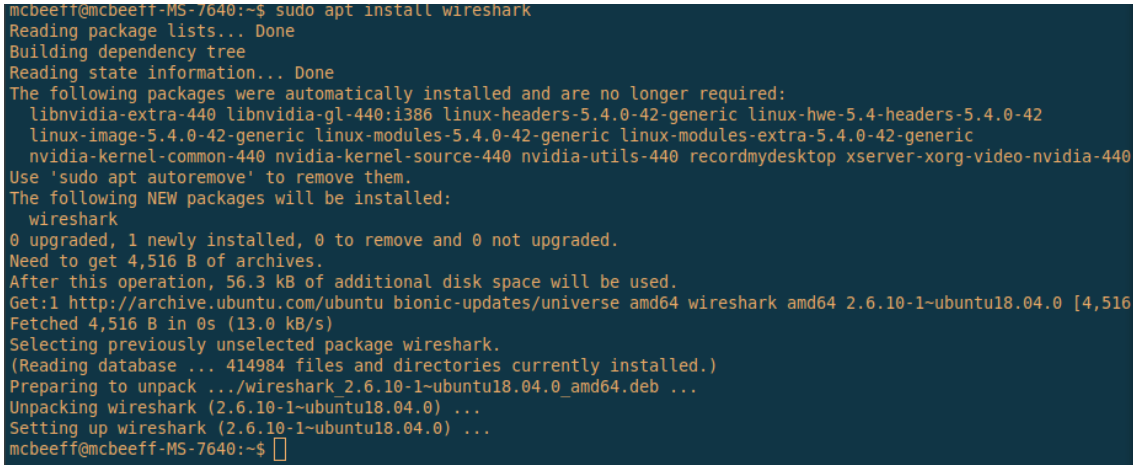 install wireshark