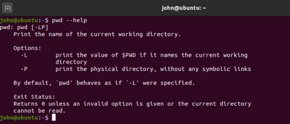 Linux command example