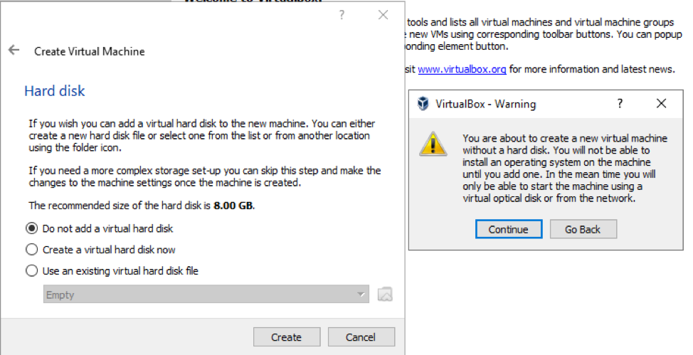 VirtualBox Warning