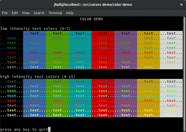 About ncurses Colors | Linux Journal