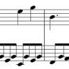 image of the opening to a Mozart piano piece, K545