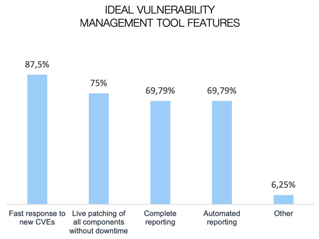 Features of the vulnerability management tool